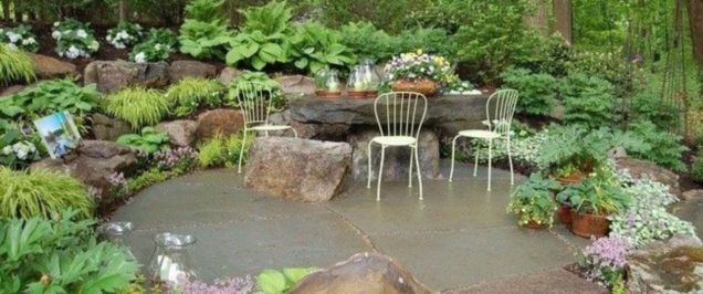 Beautiful rock garden landscaping ideas 16