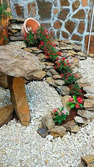 Beautiful rock garden landscaping ideas 17