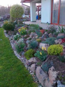 Beautiful rock garden landscaping ideas 21