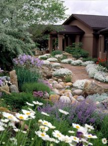 Beautiful rock garden landscaping ideas 36
