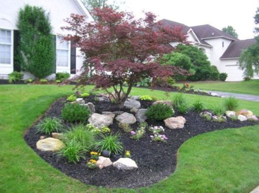 Beautiful rock garden landscaping ideas 47