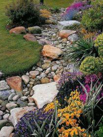 Beautiful rock garden landscaping ideas 48