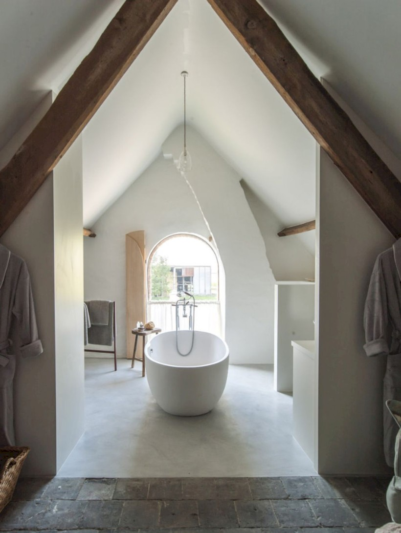 Cool attic bathroom remodel ideas 09