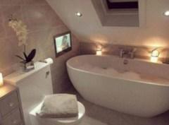 Cool attic bathroom remodel ideas 19