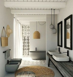 Cool attic bathroom remodel ideas 27