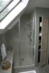 Cool attic bathroom remodel ideas 32
