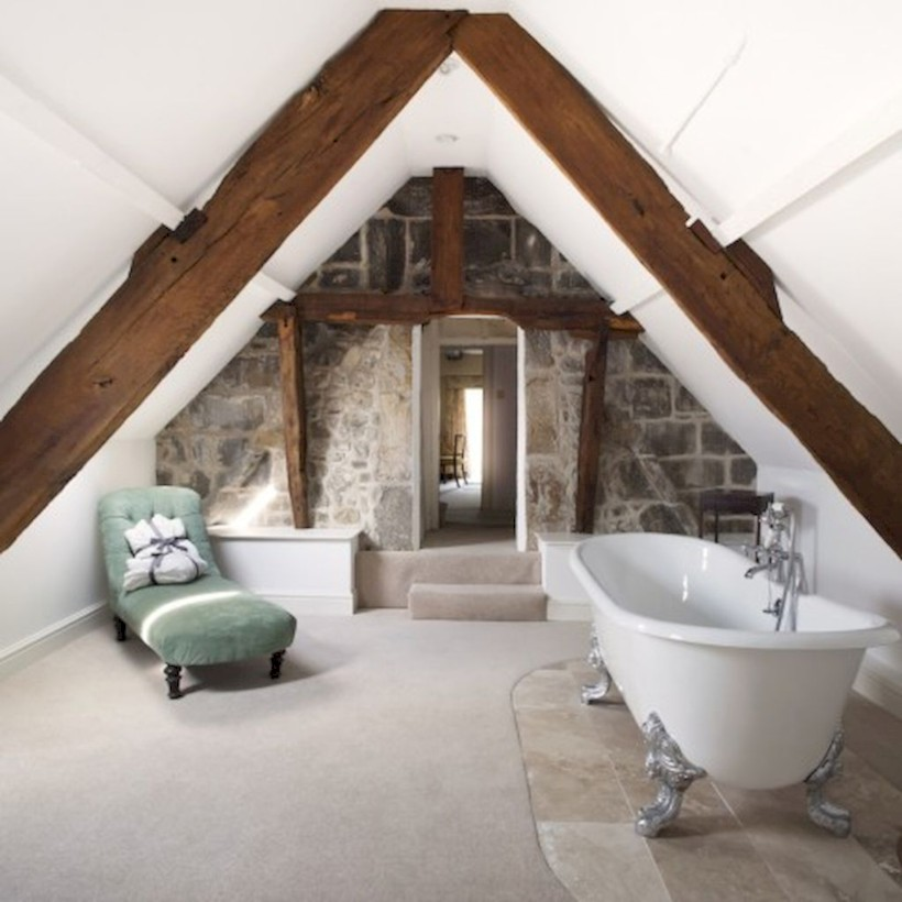 Cool attic bathroom remodel ideas 39