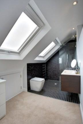 Cool attic bathroom remodel ideas 40