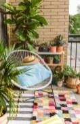 Cozy small balcony design decoration ideas 21