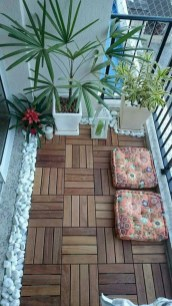 Cozy small balcony design decoration ideas 24