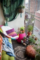 Cozy small balcony design decoration ideas 32