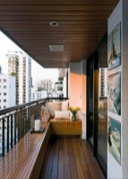Cozy small balcony design decoration ideas 34