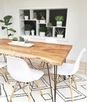 Genius small dining room table design ideas 37