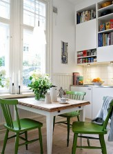 Genius small dining room table design ideas 43