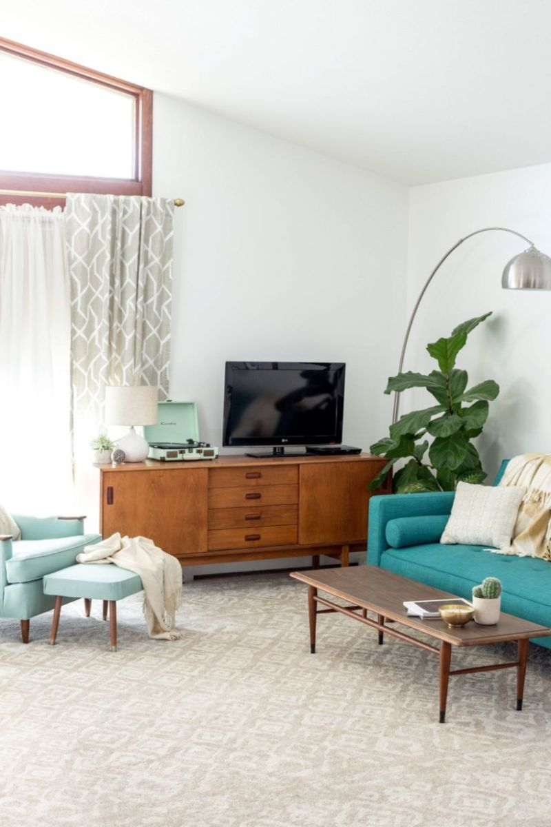 Mid century modern living room furniture ideas 18