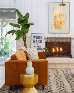 Mid century modern living room furniture ideas 49