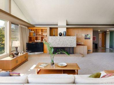 50 Mid Century Modern Living Room Furniture Ideas - Round Decor
