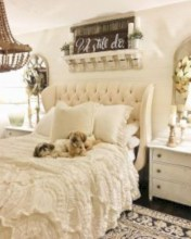 Romantic shabby chic bedroom decorating ideas 03