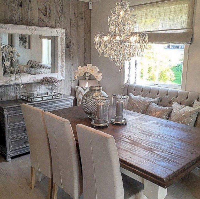 Rustic farmhouse dining room table decor ideas 09