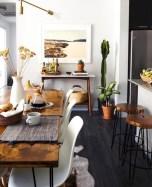 Rustic farmhouse dining room table decor ideas 37
