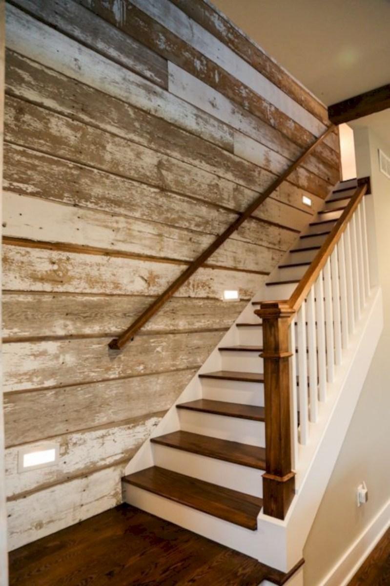 Rustic farmhouse porch steps decor ideas 24