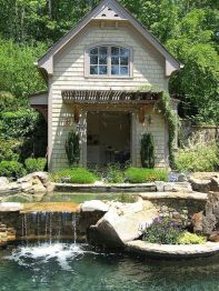 Small backyard waterfall design ideas 19