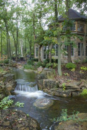 Small backyard waterfall design ideas 22