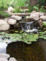 Small backyard waterfall design ideas 27