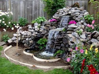 Small backyard waterfall design ideas 31