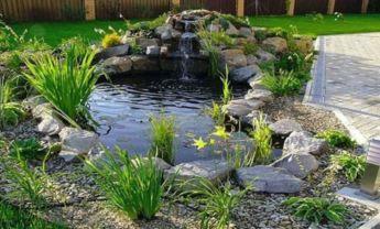 Small backyard waterfall design ideas 37