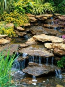 Small backyard waterfall design ideas 41
