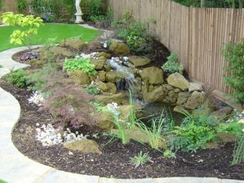 Small backyard waterfall design ideas 45