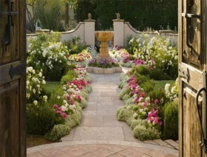 Stunning front yard entrance path walkway landscaping ideas 17