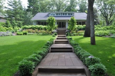 Stunning front yard entrance path walkway landscaping ideas 19