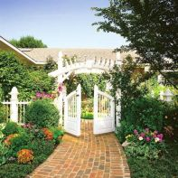 Stunning front yard entrance path walkway landscaping ideas 24