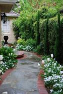 Stunning front yard entrance path walkway landscaping ideas 42