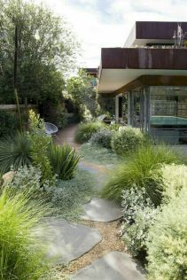 Stunning front yard entrance path walkway landscaping ideas 44
