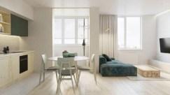 Stylish apartment studio decor furniture ideas 12