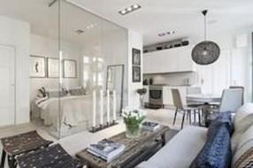 Stylish apartment studio decor furniture ideas 17