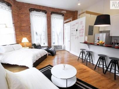 Stylish apartment studio decor furniture ideas 26