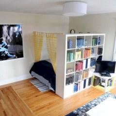 Stylish apartment studio decor furniture ideas 34