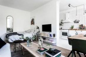 Stylish apartment studio decor furniture ideas 37