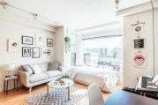 Stylish apartment studio decor furniture ideas 42