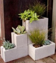 Adorable easy cinder block ideas for garden (10)