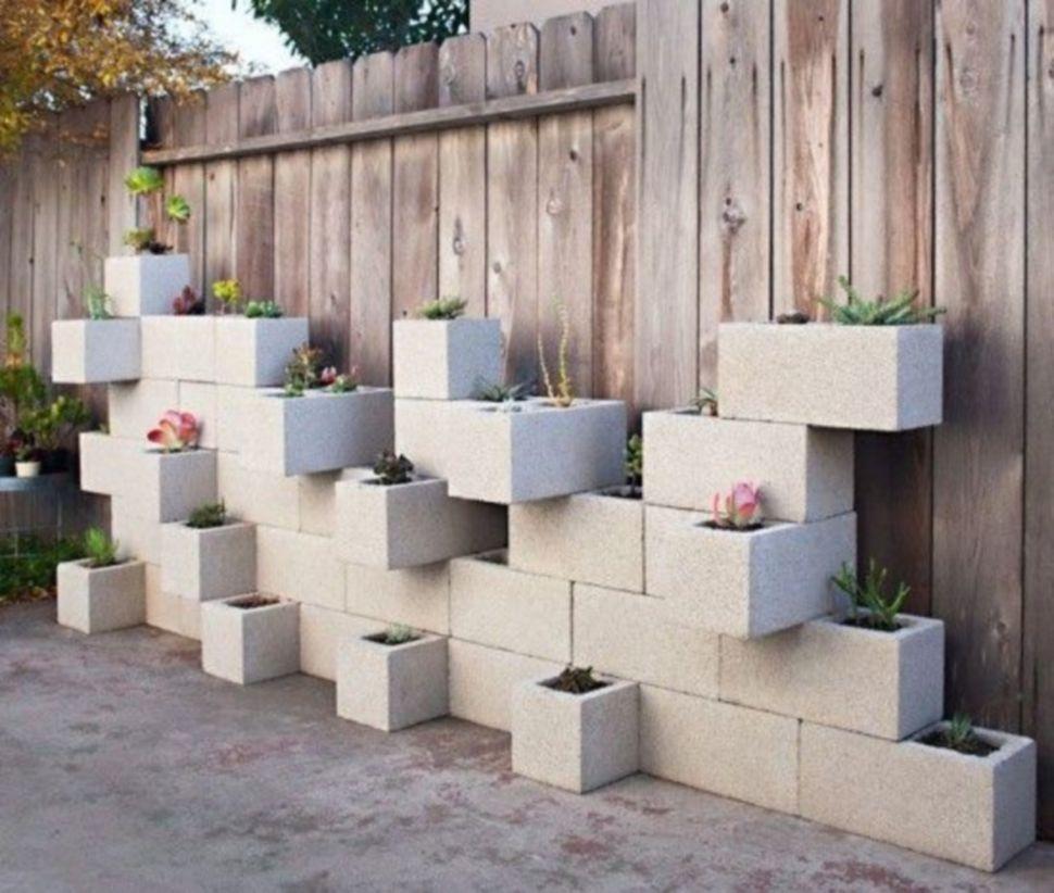 How To Decorate Garden Brick Wall 5 Ideas To Make It: 49 Adorable Easy Cinder Block Ideas For Garden