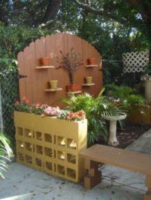 Adorable easy cinder block ideas for garden (6)