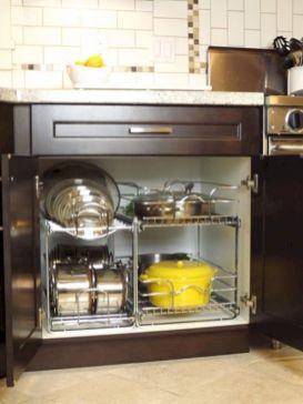 Affordable kitchen cabinet organization hack ideas (13)