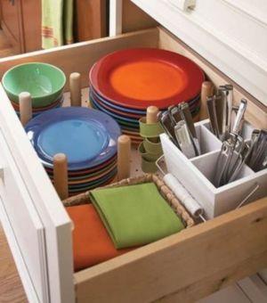 Affordable kitchen cabinet organization hack ideas (18)