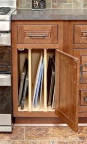 Affordable kitchen cabinet organization hack ideas (33)