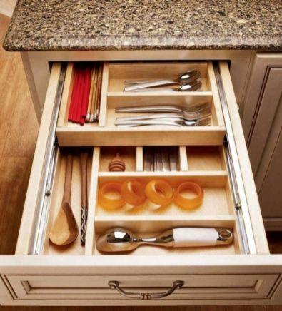 Affordable kitchen cabinet organization hack ideas (38)